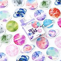 Hộp 45 Nhãn Dán Sticker Trang Trí Hệ Mặt Trời SolarSystem