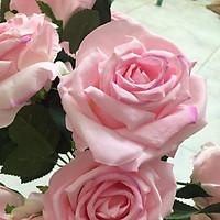 chùm hồng kim cương xịn to 10 bông- hoa lụa