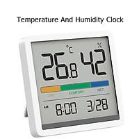 Đồng hồ nhiệt độ và độ ẩm Xiaomi youpin Miiiw Mute Màn hình LCD lớn 3,34 inch độ chính xác cao