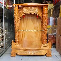 Bàn thờ thần tài ông địa gỗ gõ đỏ ngang 60 cm cột 8 cm