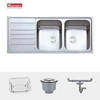Chậu rửa bát Konox, European Series, Model Artusi KS11650 1D , Inox 304AISI tiêu chuẩn châu Âu, 1160x500x215(mm), Hàng chính hãng