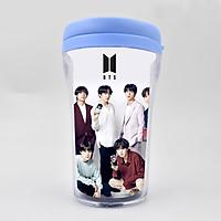 Ly uống nước côc cà phê in hình BTS