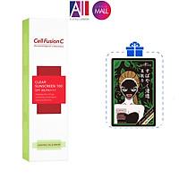 Kem chống nắng da dầu Cell Fusion C Clear Sunscreen 100 spf48/pa+++ TẶNG mặt nạ Sexylook (Nhập khẩu)
