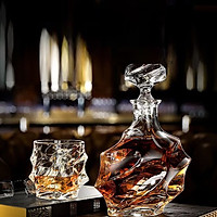 Bộ bình và ly uống rượu Pha lê cực sang Tiệp Khắc 1200 ml + 3200 ml