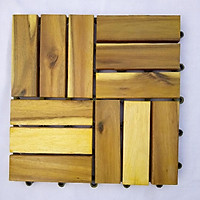 Thùng ván gỗ lót sàn 12 nan - vàng chanh (10 vỉ)