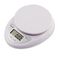 (Tặng 2 Pin) Cân Điện Tử Để Bàn 5KG, Cân Điện Tử Thực Phẩm Nhà Bếp Electronic Kitchen Scale WH - B05 5KG