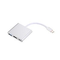 Bộ Chuyển Đổi 3 Trong 1 USB3.1 Type-C Sang USB 3.0/ HD/ Type-C Cho Macbook Pro, Dell XPS 13