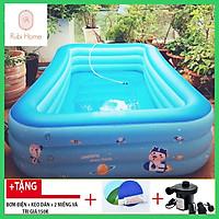 Bể bơi phao gia đình Summer Baby KT 315*250*55CM (tặng kèm bơm điện)