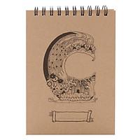 Sổ Sketchbook Alphabet S 80 Trang Mimemo - Mẫu Ngẫu Nhiên (14.8 x 21 cm)