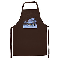 Tạp Dề Làm Bếp In Hình Ngôi nhà tuyết rơi - TN001 – Màu Nâu