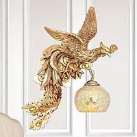 Bộ đèn vách tường gắn tường hình chim phượng hoàng vàng tân cổ điển BV9033