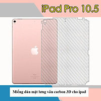 Miếng dán Carbon mặt lưng cho iPad Pro 10.5 inch