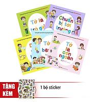 Combo Hướng Dẫn Thực Hành Kỹ Năng Sống Theo Phương Pháp Montessori (Trọn Bộ 5 Cuốn) - Tặng 1 Bộ Sticker