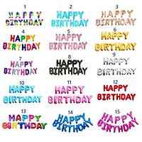 Chữ happy birthday bong bóng