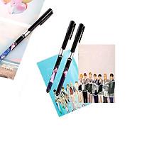 Combo 3 bút BTS và 2 sổ tay in hình BTS tặng sticker BTS