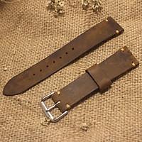 Dây Đồng Hồ Da sáp ngựa thô tặng khóa + chốt tháo + Size 18mm