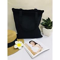 Túi vải canvas trơn đen Gady