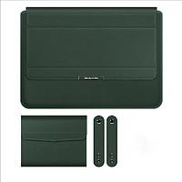 Túi chống sốc bao da laptop macbook kiêm giá đỡ tản nhiệt kèm ví đựng sạc chuột