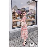 Váy Thiết Kế Hoa dập ly, vay von hoa dáng suông xinh xắn, dễ thương - H&N Store