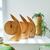 Đồng hồ gỗ để bàn DH01