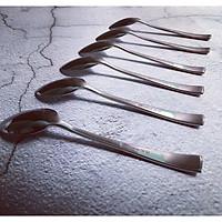 Bộ 6 Thìa Muỗng  Ăn Cơm Cán Dài Inox 304 18/10 Cao Cấp Bouscoe Set 6 Dessert Spoons