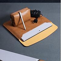 Bao da, Cặp da, túi da chống sốc cho Macbook, Surface Pro, Laptop - Tặng kèm ví đựng sạc/ chuột