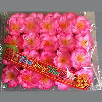 Hoa Đào Giả Trang Trí Tết - Bịch 40 hoa đào giả kèm lá kẽm trang trí tết