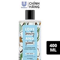 Sữa Tắm Love Beauty And Planet Chăm Da Mềm Mịn Với 100% Dừa Tươi Organic 400ml