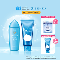 Bộ Gel sữa chống nắng Perfect UV Milk 80ml và Sữa rửa mặt sạch hoàn hảo ẩm mịn Perfect Whip 120g