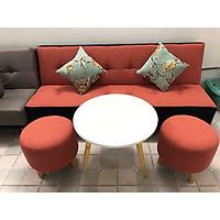 Sofa bed, sofa giường cà rốt viền đen CRVD 1m7x90, bộ sofa phòng khách, salon, sopha, sa lông, sô pha, bàn ghế sofa