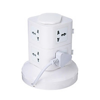 UK Multi Layer Vertical Tower Socket USB Port Outlet Charger Power Strip Protector