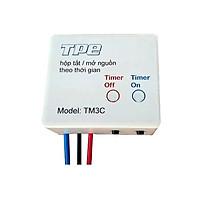 Công tắc hẹn giờbật tắt luân phiên Model TM3C ( Tặng 02 nút kẹp cao su giữ dây điện cố định )