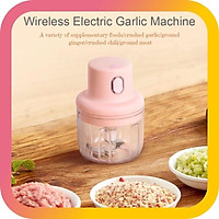 Máy xay mini cầm tay đa năng sạc pin cao cấp xay tỏi ớt, hành, rau củ quả dung tích 250ml