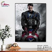Tranh sơn dầu số hóa tự tô màu theo số Siêu anh hùng Marvel Captain America NV0992