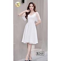 Váy đầm B360 Trắng xòe thời trang nữ hàng thiết kế Cao Cấp (3 màu)