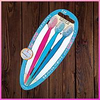 Set 3 dao cạo lông mày cán dài làm đẹp chuyên dụng cho nữ KAI tặng 2 zipper 10cm