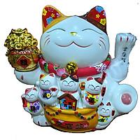 Mèo Khai Vận chiêu phúc (16cm x 15cmx 12cm) PT0267