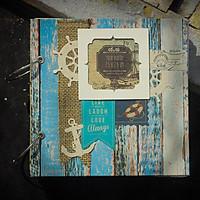 Album Ảnh Handmade (20 x 20 cm) - Blue Pastel