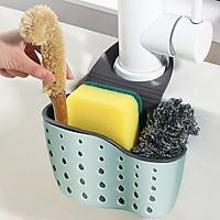 Giỏ nhựa 2 lớp đựng đồ rửa chén dụng cụ nhà tắm kiểu dáng tổ ong treo vòi nước