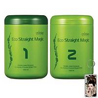 Kem duối tóc sinh thái Eco Straight Magic Obsidian Hàn Quốc (2x1000ml)