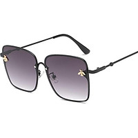 Luxury Square Bee Sunglasses Women Men Retro Brand designer Metal Frame Oversized Sun Glasses Female Gradient