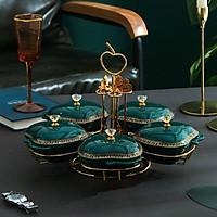 Khay đựng bánh kẹo mứt tết bằng sứ cao cấp phong cách hoàng gia
