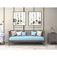 Tranh treo tường phòng khách, phòng ngủ -Tranh treo bộ 2 tấm dọc M26223/ Gỗ MDF cao cấp phủ kim sa/ Chống ẩm mốc, mối mọt/Bo viền góc tròn