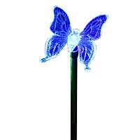 LED Solar Garden Stake Light Multi Color-Changing Butterfly, Dragonfly Garden Decor Figurines Lights Outdoor Landscape Lighting fo