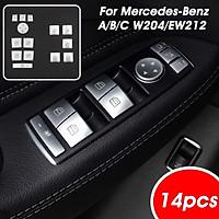 Chrome Button Switch Trim Window Lift For Mercedes- A/B/C W204/EW212