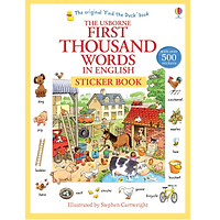 Sách tiếng Anh - Usborne first thousand words in English sticker book