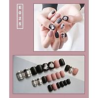 Bộ 24 móng tay giả nail thời trang họa tiết bắt mắt chống thấm nước (E025)