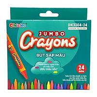 Bút Sáp Màu Chicko Jumbo Crayons - 24 Màu - DK3304-24