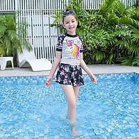 Đồ bơi cho bé gái chân váy họa tiết Kỳ lân size cho bé từ 20kg đến 50kg