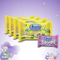 Combo 4 + 1 Gói Khăn ướt lau sàn kháng khuẩn tiện dụng IHomeDa  ( 10 miếng ) - Combo 4 + 1 iHomeda anti bacteria floor and kitchen wet wipes ( 10 sheets per package)